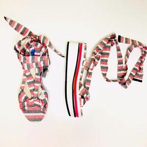 Zara woman platform sandals size 7 1/2